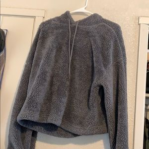 Forever 21 grey soft hooded sweater
